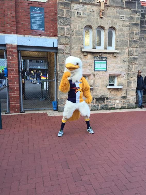 Eagles mascot before the game.