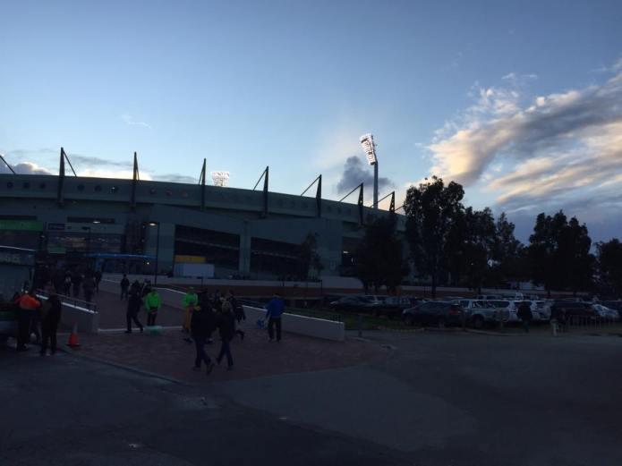 Sun sets over domain stadium