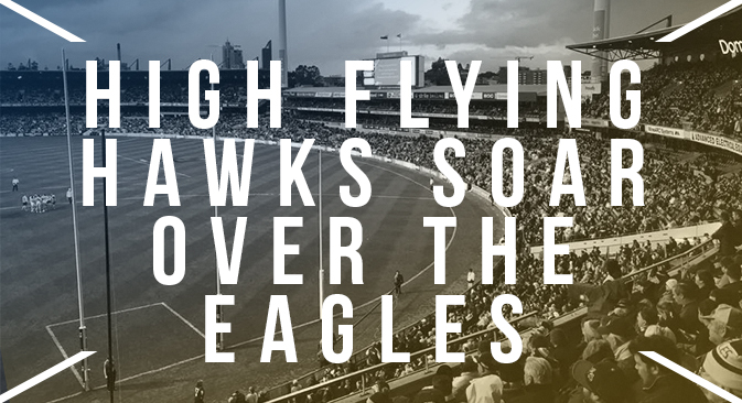 High Flying Hawks Soar over the Eagles