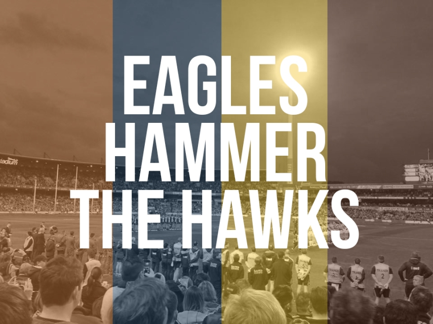 Eagles hammer the hawks