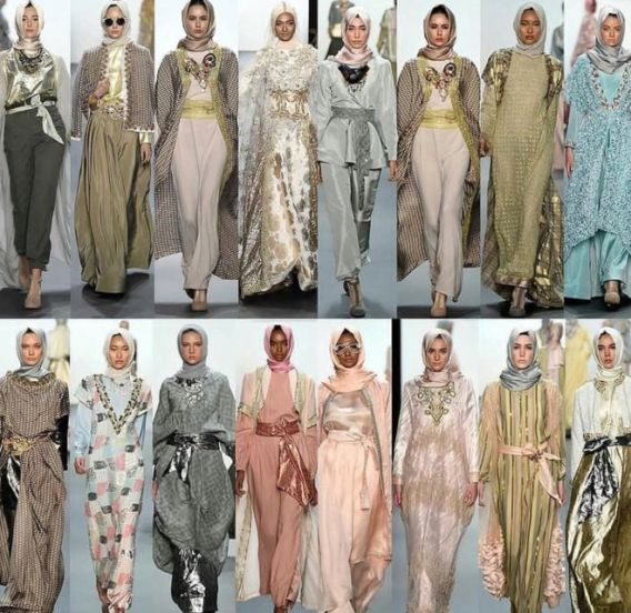 Models wearing hijab's on the NYFW runway fro the first time.