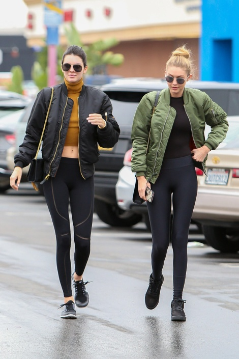 Kendall and Gigi rocking the activewear chic. Source Freelancer Magazine