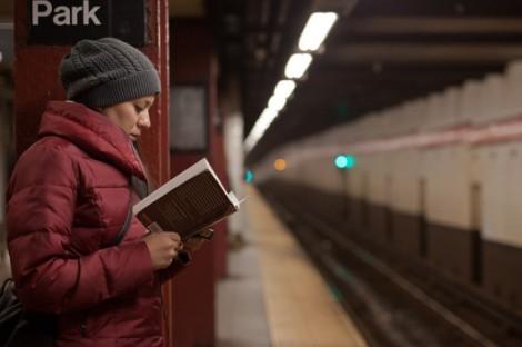 Reader at Bryant Park